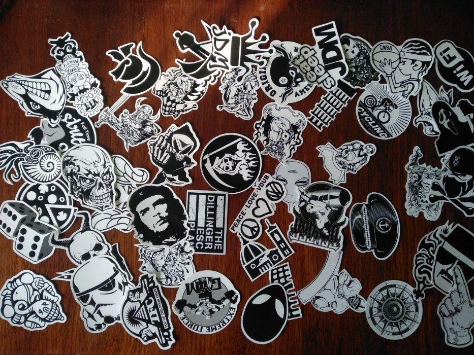 Стикеры Черно белые 50 шт | Наклейки на Ноутбук, Автомобиль, Велосипед Днепр - изображение 1