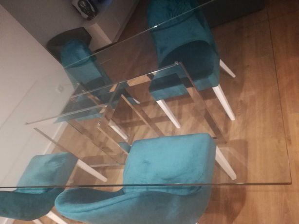 pack mesa vidro + cadeiras