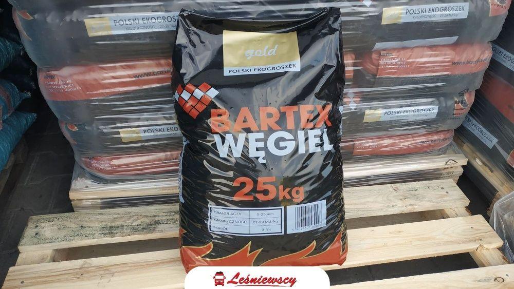 EKOGROSZEK Bartex-GOLD 28-30Mj/kg super jakość popiół 3-5% opał węgiel