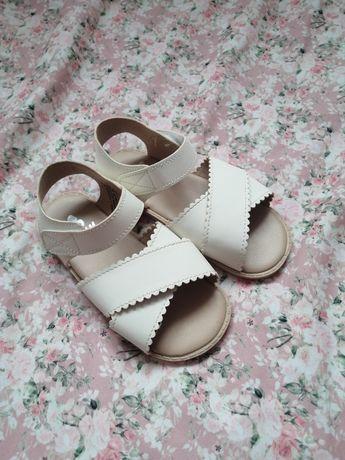 HM piękne buty Ubrane raz. sandały h&m sandałki dziewczęce 24