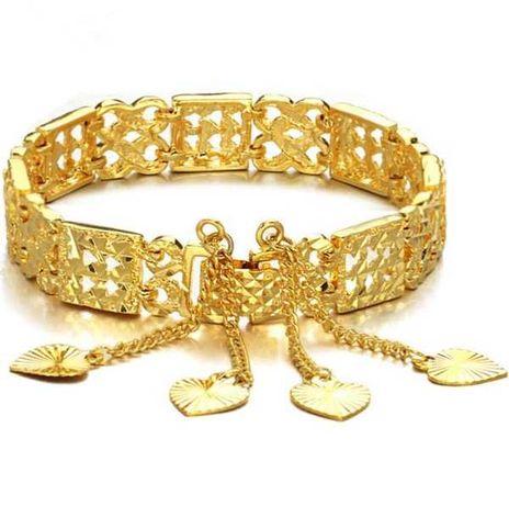 Pulseira Moda vintage padrão luxo design banho ouro