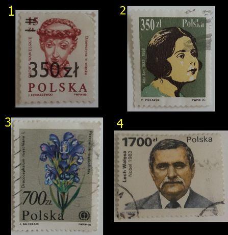 Znaczki pocztowe, Polska 1990_2001, różne serie
