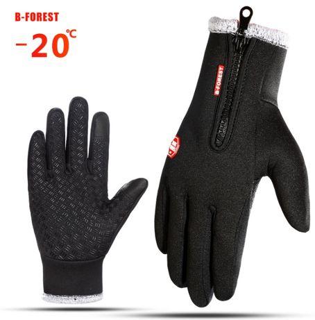 Лыжные сенсорные перчатки зимние сенсорные на меху, до -20 С! мех
