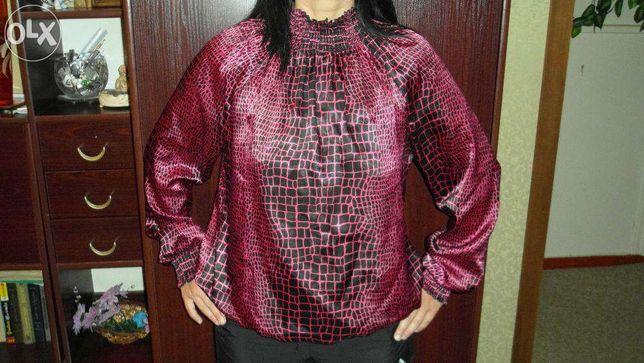 Шелковая кофта, с мраморным узором, фирма INCITY, 300 рублей