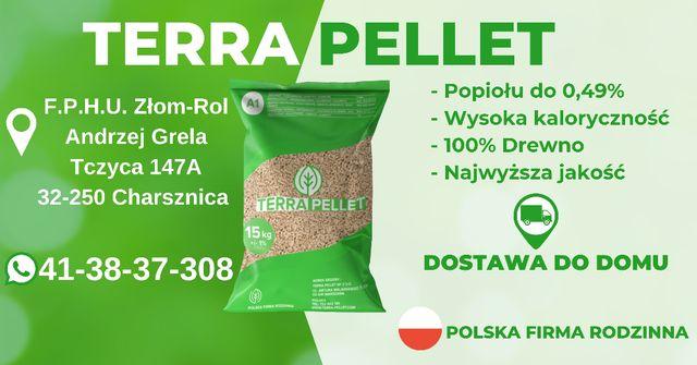 Terra Pellet pelet z trocin 15kg drzewny 6mm
