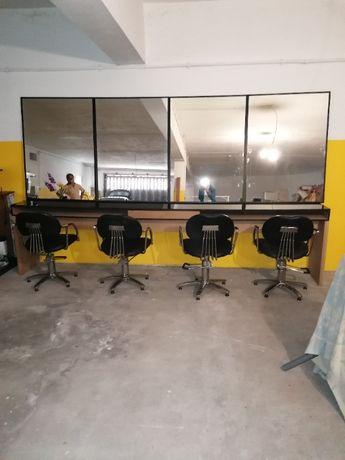 Mobiliário completo para Salão de Cabeleireiro, Manicure e Estética