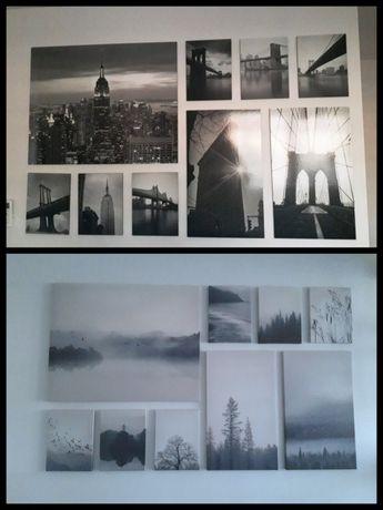 zestawy 9 obrazów natura i New York