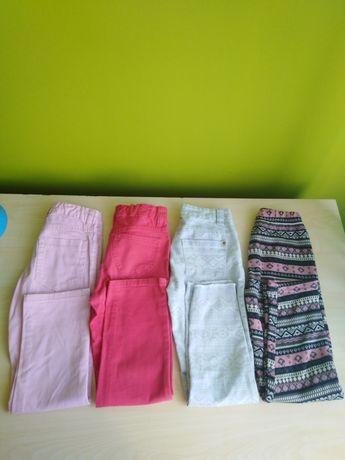 Spodnie 4 pary 110-116 cm
