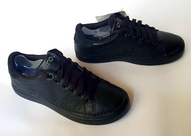CROCS Bowen Unisex, adidasy czarne, skóra, r. M4/W6, 36 - 37, NOWE
