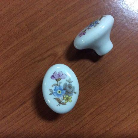 Puxadores Mobiliario Porcelana Flor