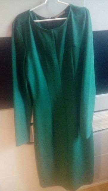 ORSAY cudna prosta elegancka sukienka szmaragdowa 36