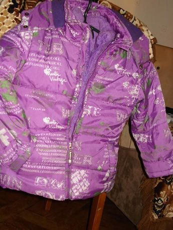 продам зимнюю куртку на девочку 98-104 см