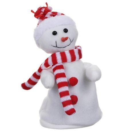 Bałwanek tańczący śpiewający z muzyką zabawka świąteczna