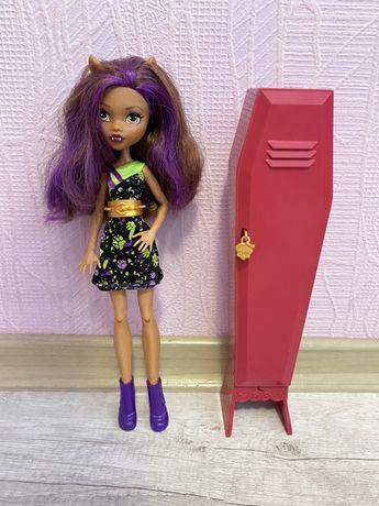 Продам куклу Монстер Хай Оригинал. Клодин Вульф со шкафом.