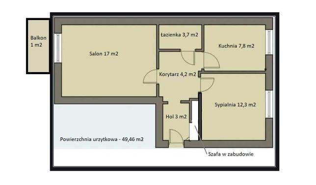 Zamienię mieszkanie 2-pok. komunalne na większe