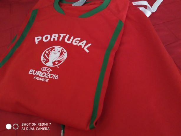 calção e t-shirt Seleção Euro 2016 - M