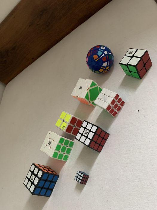 9 sztuk Zestaw Kostek Rubika Perełki Warszawa - image 1