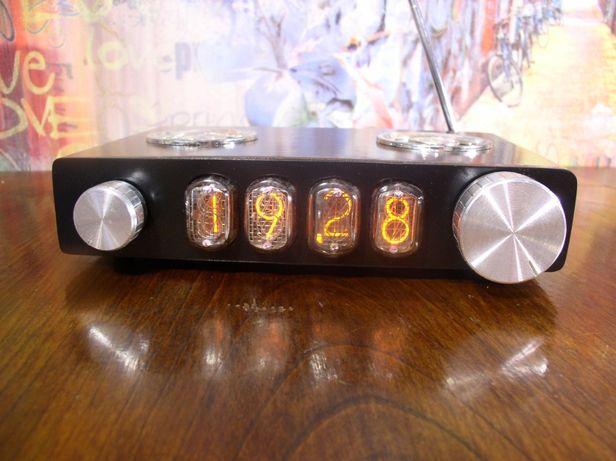 Часы на газоразрядных индикаторах с радио, bluetooth и термометром