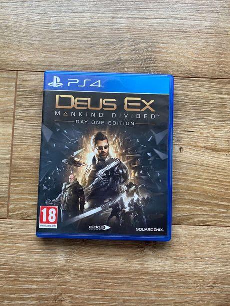 Gra Deus Ex Mankind Divided Rozłam Ludzkości PlayStation 4 Ps4 Pro Ps5