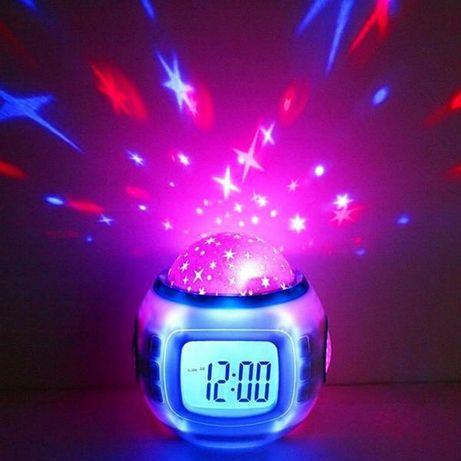 Настольные часы - проектор Звездного неба Music and Starry Sky calenda