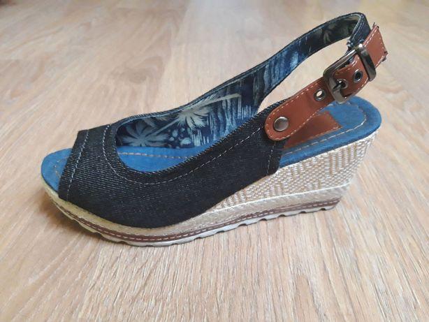 Buty sandały Monnari jeans rozm. 37 czarne