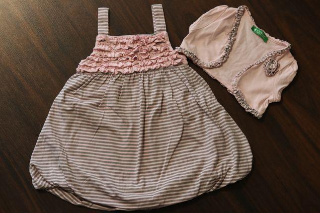 Sukienka bombka+bolerko roz.92