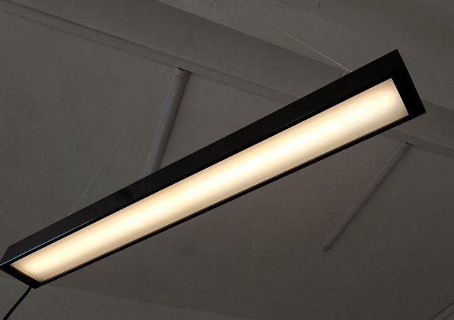 Lampa LED wisząca czarna stalowa 100cm sufitowa nad stół