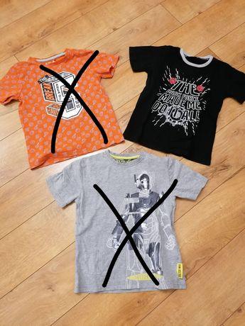 Bluzki z krótkim rękawem chłopięce T-shirty rozmiar 128 - 9 sztuk