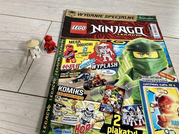 Komiks Lego Ninjago plus dwie figurki Lego Kai, Kościotrup