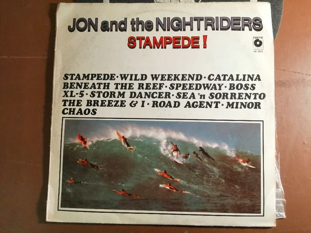 Jon and the Nightriders - Stampede! LP EX- 1987 Surfers Rock