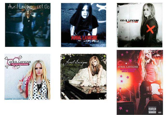 Coleção Avril Lavigne (cds e dvds)