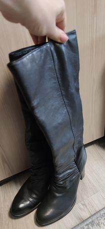 Сапоги кожаные без утеплителя