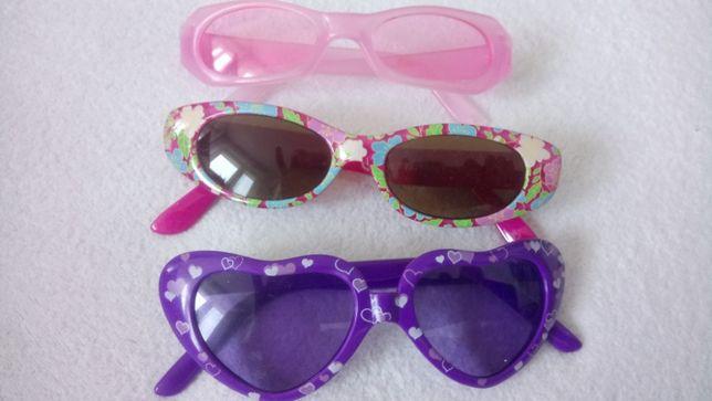 okulary dziecięce, dla dziewczynki, 4-7 lat, szerokość ok. 12 - 12,5 c