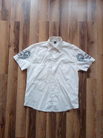 Koszula męska krótki rękaw biała