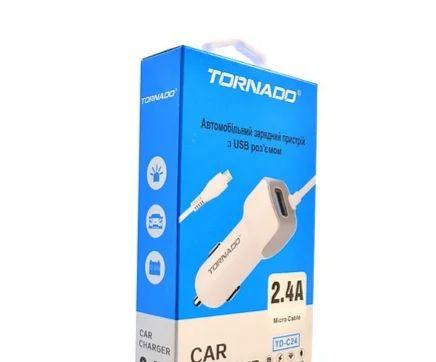 Автомобільний зарядний пристрій Tornado