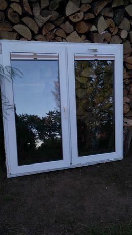 okno plastikowe  3 szybowe z demontażu 150 x 150 + drzw balkonowe