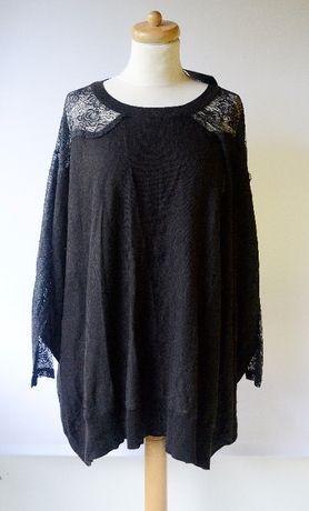 Sweter Asos NOWY Czarny Koronka M 38 Koronkowy Oversize Zara H&M MAngo
