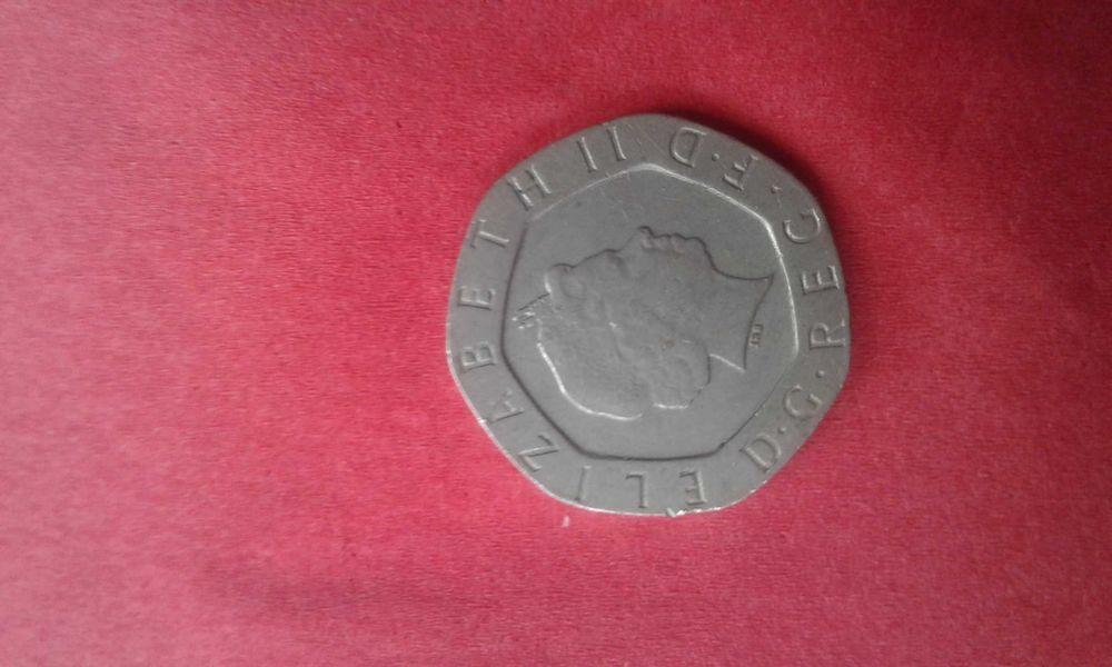 Dwadzieścia pensów Anglia 2003 Elżbieta ll Brody - image 1