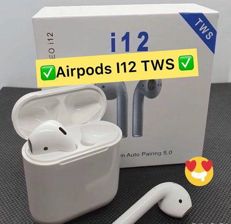 Оригинал i12 TWS Airpods Original Безпроводные Наушники+ГАРАНТИЯ i99