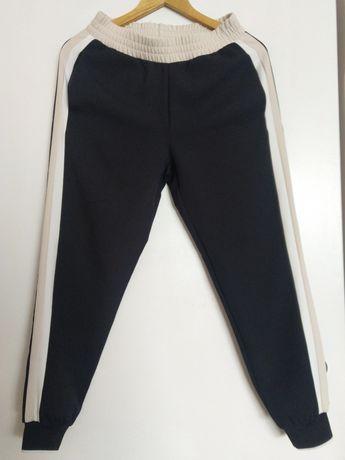 Spodnie Zara lampasy XS joggery