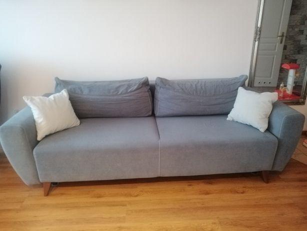 Sofa rozkładana, pojemnik na pościel