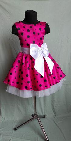 Детское ретро платье. Платье в горох. Стиляги