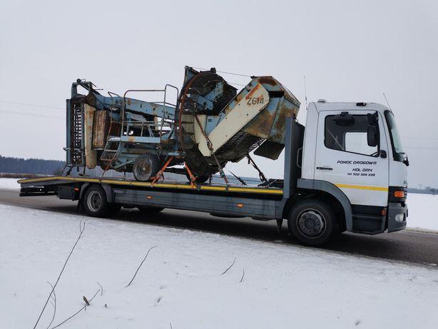 Pomoc Drogowa Autolaweta Transport Maszyn Ciągników Kontenerów Wózków