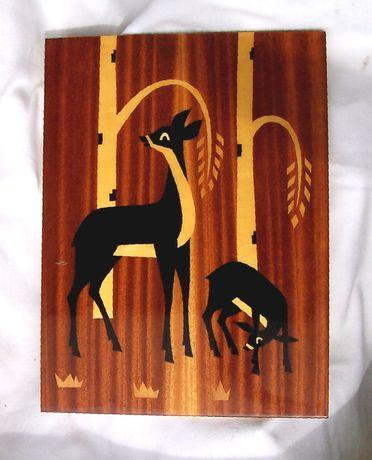Картина з дерев'яних вставок, 33х45см / Картина из дерева по дереву