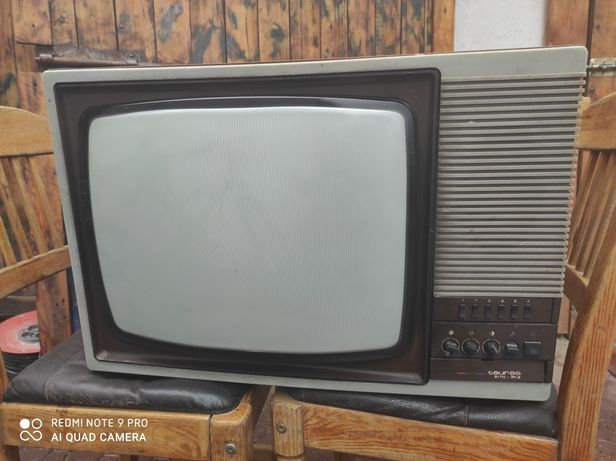 Telewizor Tauras z czasów PRL