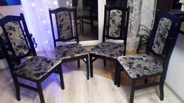 Krzesła mocne czarne solidne
