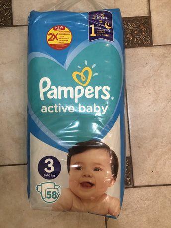 Памперси Pampers active beby 3. 58 шт