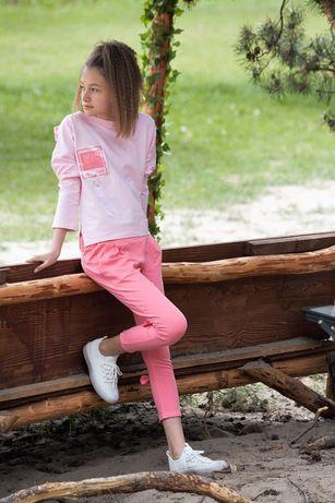 Komplet QBA Kids Nowy r152 Dziewczynka malinowo różowy
