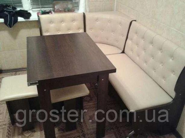 Кухонный уголок Адмирал: стол раскладной, 2 табурета, лавка угловая