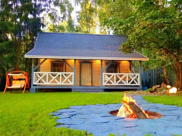 Bajeczny domek nad jeziorem z linią brzegową- jacuzzi-pomost-kominek!